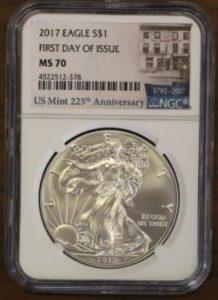 アメリカ イーグル銀貨 ファーストストライク