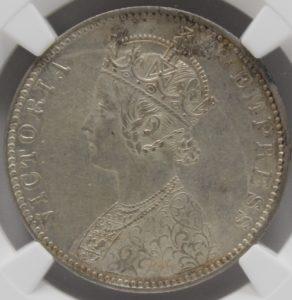 ヴィクトリア女王 銀貨 本物