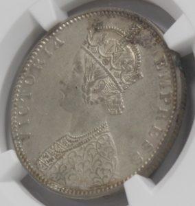 ヴィクトリア女王 ルピー銀貨 本物
