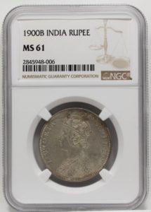 ヴィクトリア銀貨 インドルピー